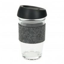 "Glaskaffeebecher ""Cristallo"", large - transparent"