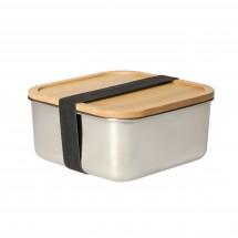 "Lunchbox ""Vesper"", groß, silber/natur"