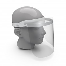 """Gesichtsvisier """"Protection"""", weiß/transparent"""