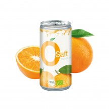 Bio Orangensaft, 200 ml, Body Label