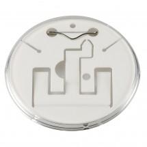 """Button """"Self-Made"""", weiß/transparent"""