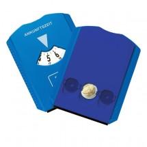 """Parkscheibe """"Euro"""" mit Chips, VS+RS in blau"""
