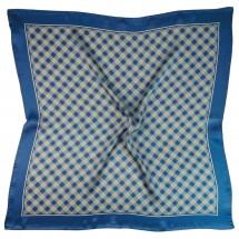 Nickituch, Reine Seide Satin, bedruckt, ca. 53x53 cm - blau