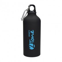 Aluminiumflasche Sporty-2Tone schwarz 0,6 l