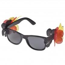 Sonnenbrille Flower Deutschland, schwarz/rot/gelb