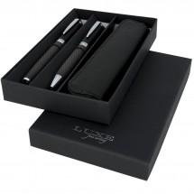 Kohlenstoff-Kugelschreiber-Geschenkset - schwarz