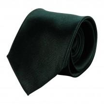 Krawatte, Reine Seide, Satin, jacquardgewebt - schwarz