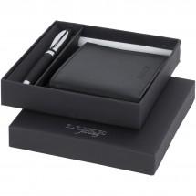 Kugelschreiber mit Geldbörse – Geschenkset (106704) - schwarz