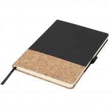 Evora A5 Notizbuch mit Kork - schwarz