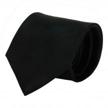 Krawatte, Reine Seide, Rips, jacquardgewebt - schwarz