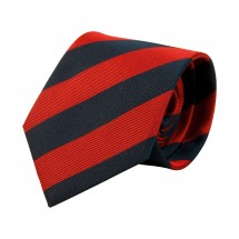 Krawatte, Reine Seide, jacquardgewebt - rot