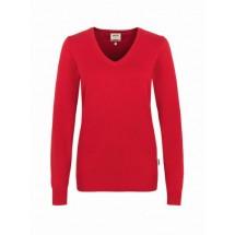 Damen-V-Pullover Premium-Cotton-rot