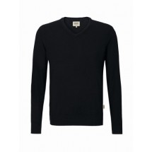 V-Pullover Merino Wool-schwarz