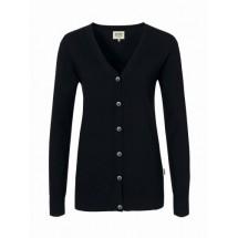 Damen-Cardigan Merino Wool-schwarz