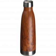 Edelstahl-Isolierflasche Holzoptik Tampa - braun