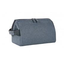 Reißverschlusstasche CIRCLE - blau-grau meliert