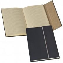 Notizbuch mit Metallstreifen - schwarz