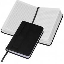 Notizbuch mit Steckfach A6 - schwarz