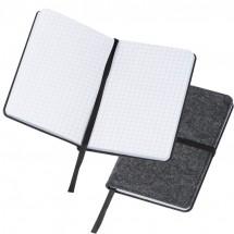 Notizbuch aus Filz A6 - grau
