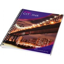 Desk-Mate® A4 Notizbuch mit Spiralbindung- weiss/schwarz