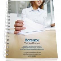 Desk-Mate® A5 Notizbuch Kunststoffumschlag - weiss