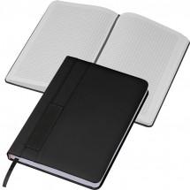 Notizbuch mit Steckfach A5 - schwarz