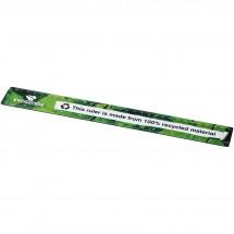 Terran 30 cm Lineal mit 100 % recyceltem Kunststoff - schwarz