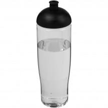 H2O Tempo® 700 ml Sportflasche mit Stülpdeckel - transparent/schwarz