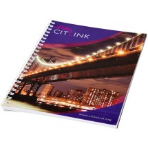 Desk-Mate® A5 Notizbuch mit Spiralbindung- weiss