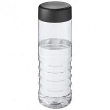 H2O Treble 750 ml Flasche mit Drehdeckel - transparent/schwarz