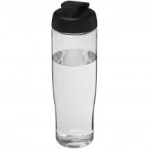 H2O Tempo® 700 ml Sportflasche mit Klappdeckel - transparent/schwarz