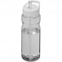 H2O Base® 650 ml Sportflasche mit Ausgussdeckel - transparent/weiss
