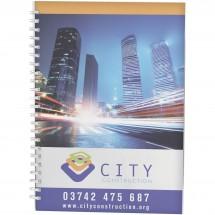 Desk-Mate® A4 Notizbuch Wire-O-Bindung Kunststoff-Umschlag - weiss