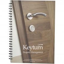 Desk-Mate® A5 Notizbuch mit Kunststoff Cover und Spiralbindung- weiss/schwarz