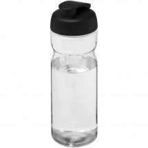 H2O Base® 650 ml Sportflasche mit Klappdeckel - transparent/schwarz