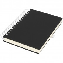 Wiro A5 Spiral Notizbuch - schwarz/weiss