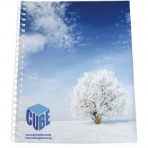 Desk-Mate® A4 Notizbuch Kunststoffumschlag - weiss