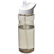H2O Eco 650 ml Sportflasche mit Ausgussdeckel- kohle/weiss