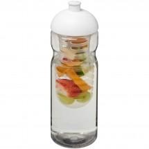 H2O Base® 650 ml Sportflasche mit Stülpdeckel und Infusor - transparent/weiss