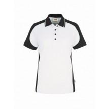 Damen-Poloshirt Contrast Performance-weiß/anthrazit