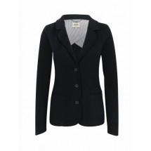 Damen-Sweatblazer Premium-schwarz