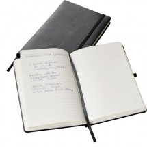 Notizbuch A5-Format, schwarz - schwarz