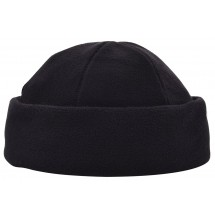 100% rPET Fleece Mütze - schwarz