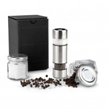 Geschenkset: Salz & Pfeffer im Miniformat, schwarze Verpackung