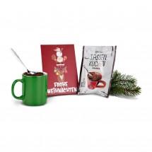 Geschenkset: Frohe Weihnachten Tassenkuchen