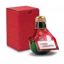 Geschenkset: Kleinste Sektflasche: Fröhliche Weihnachten