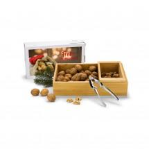 Geschenkset: Nuss-Nux, Nussknacker-Set mit 400 g Nüssen