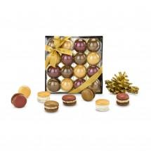 Geschenkset: Goldene Macarons