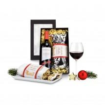Geschenkset: Rotwein & Stollen