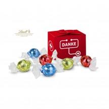 Geschenkartikel: Lindt süßes Danke, 6 Lindorkugeln in 3 Geschmacksrichtungen für Mitarbeiter in medi